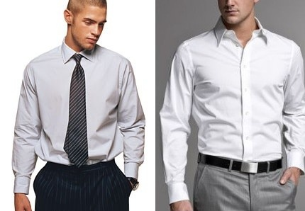 Baggy Shirt (left)  Fitted Shirt (right)